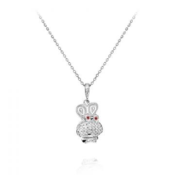 Colier din argint 925 cu cristale Charmy Bunny