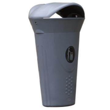 Cos de gunoi cu capac Luna 60 litri Mevatec