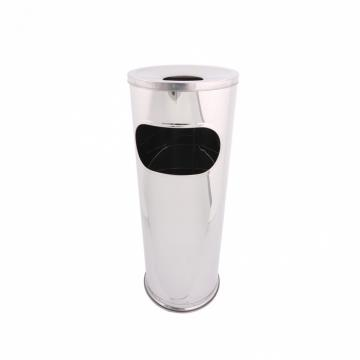 Cos gunoi inox cu scrumiera, capacitate 15 L de la Sanito Distribution Srl