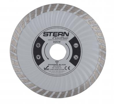 Disc diamantat taiere umeda si uscata Stern 125 mm de la Micul Gospodar