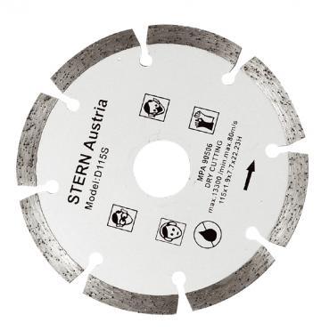 Disc diamantat taiere uscata Stern 115 mm de la Micul Gospodar