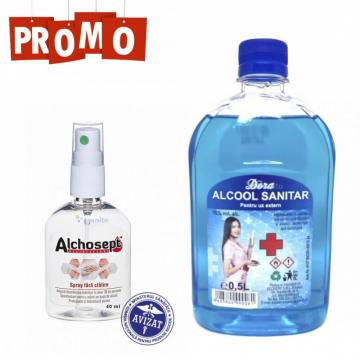 Spirt si gel dezinfectant Alchosept de la Sanito Distribution Srl