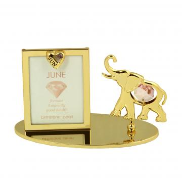 Rama foto Piatra norocoasa Iunie cu cristale Swarovski de la Luxury Concepts Srl