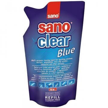 Detergent geam Sano Clear Blue Refill, 750ml
