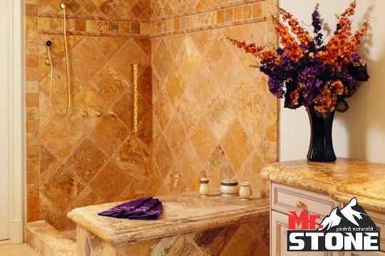 Travertin Gold chituit mat cross cut 40,6 x 61cm de la Antique Stone Srl