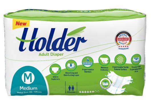 Scutece adulti Holder, Mmarimea M - Medium, 30 buc/set
