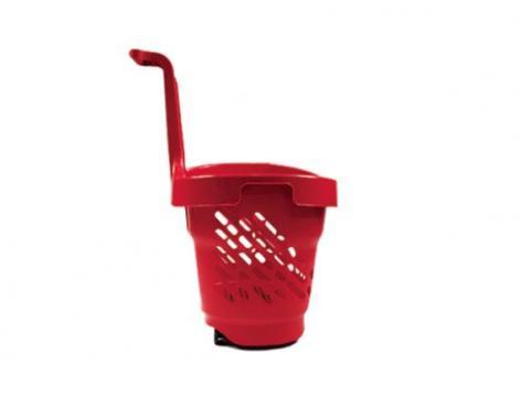 Cos cumparaturi - roller din plastic 48 litri de la Best Store Solutions Srl