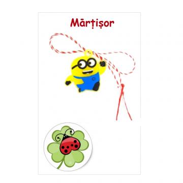 Martisor Minion pe cartonas (APC19-AT08) de la Eos Srl (www.martisoare-shop.ro)