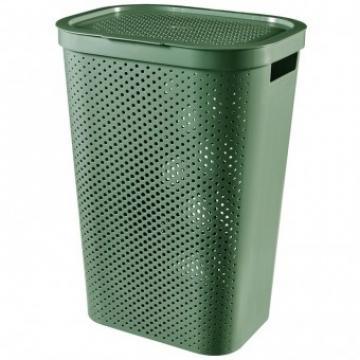 Cos rufe, Curver Infinity Recycled 60L, Verde, 44x60x35 cm de la Viva Metal Decor Srl