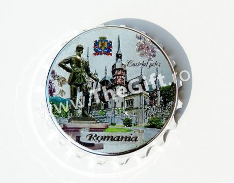Desfacator, magnet de frigider, Romania Castelul Peles