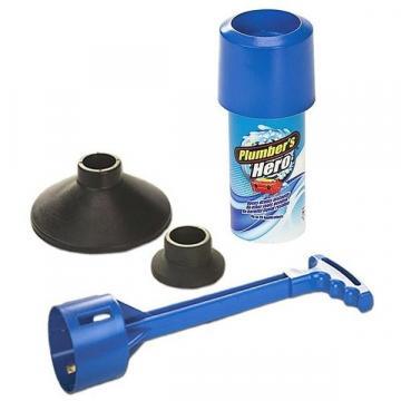 Dispozitiv pentru desfundat scurgerile Plumber's Hero de la Www.oferteshop.ro - Cadouri Online