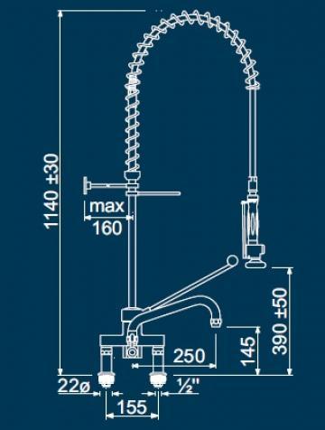 Dus prespalare vase cu monocomanda doi robineti 547354 de la Kalva Solutions Srl