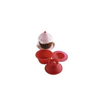 Forme prajituri silicon Big Top Cupcake de la Preturi Rezonabile