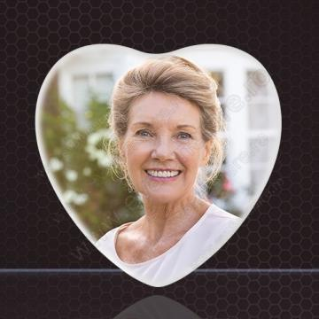 Fotoceramica Inima simpla de la Casa Funerara Eva Srl