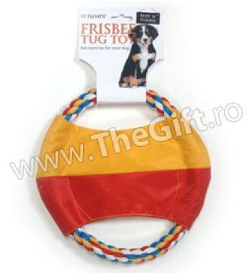 Jucarie cu sfoara frisbee