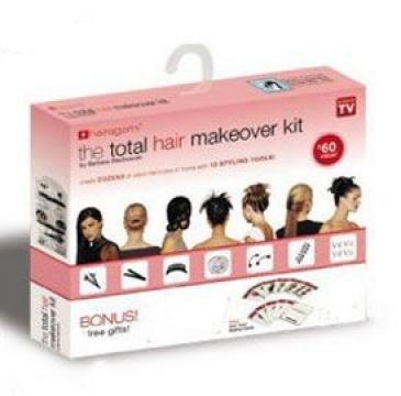 Kit pentru coafura Hairagami total hair makeover de la Www.oferteshop.ro - Cadouri Online