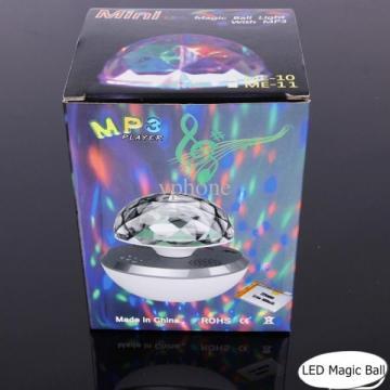 Cadou LED Magic Ball minge mini cu MP3 si LED