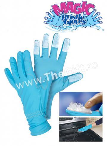 Manusi pentru menaj, Magic Bristle Gloves