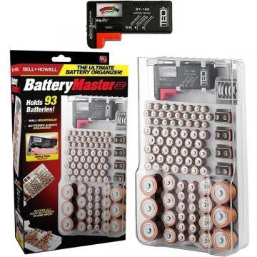 Organizator si tester pentru stocarea bateriilor Battery