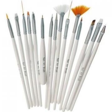 Set 15 pensule pentru unghii cu acryl si gel de la Preturi Rezonabile