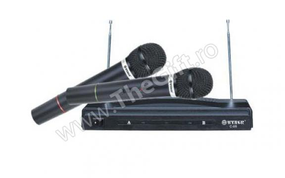 Set 2 microfoane wireless cu 2 canale de la Thegift.ro - Cadouri Online