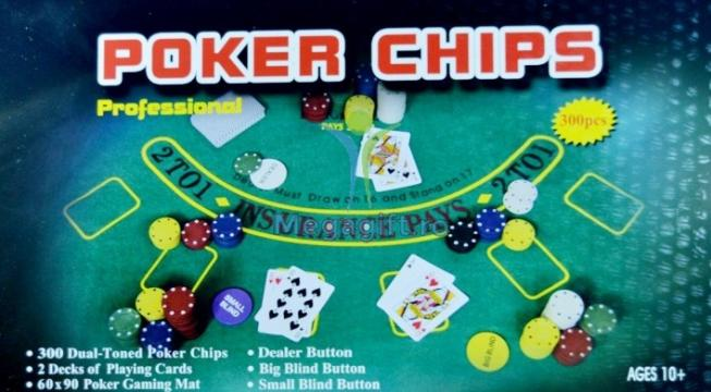 Set Poker 300 jetoane cutie metalica
