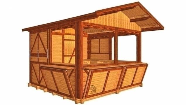 Ghereta din lemn pentru comert Stand 300x300 de la Korondi Arcso Srl