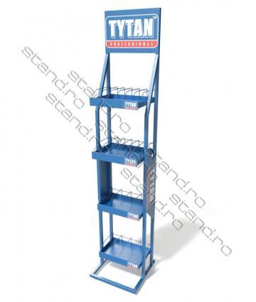 Stand expozitor cu rafturi pentru tuburi 0916