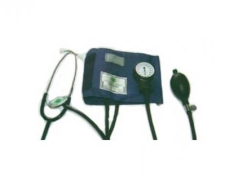 Tensiometru mecanic cu stetoscop inclus