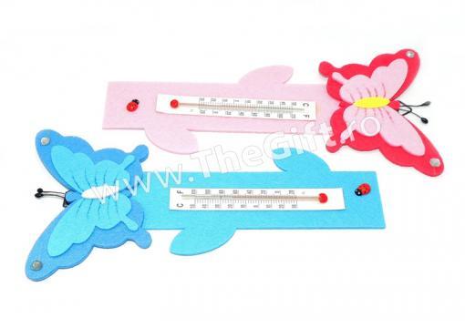 Termometru pentru camera copiilor, fluturi de la Thegift.ro - Cadouri Online