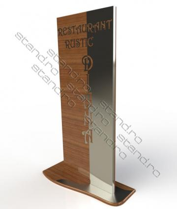 Totem stradal din metal si lemn 0904