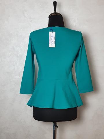 Bluza cu volan talie tricot de la Sc Blu Art Design Srl