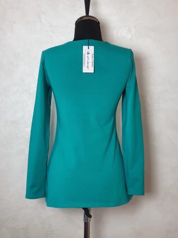 Bluza tricot cret pe bust de la Sc Blu Art Design Srl