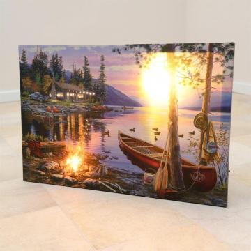 Tablou iluminat led 30x40cm - print digital, motiv de toamna de la Hoba Ecologic Air System Srl
