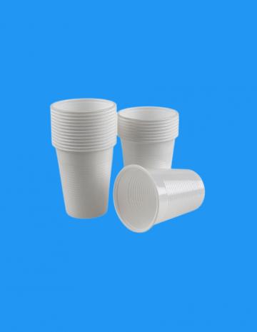 Pahar plastic alb 200cc 1,8g 100 buc/set de la Cristian Food Industry Srl.