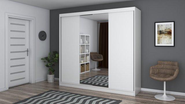 Dressing Ovidiu 38, alb, 233x218x61 cm, 2 usi culisante de la CB Furniture Srl