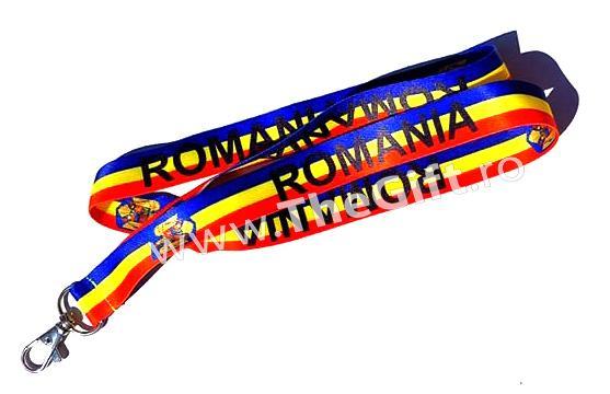 Snur tricolor Romania, pentru ecuson, legitimatie, chei de la Thegift.ro - Cadouri Online