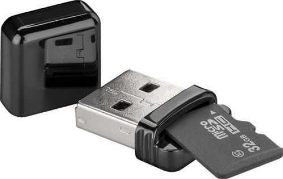 Cititor de card microSD USB2.0 Goobay de la Mobilab Creations Srl