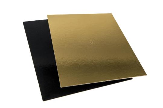 Planseta groasa dreapta auriu/negru 24x24cm de la Cristian Food Industry Srl.