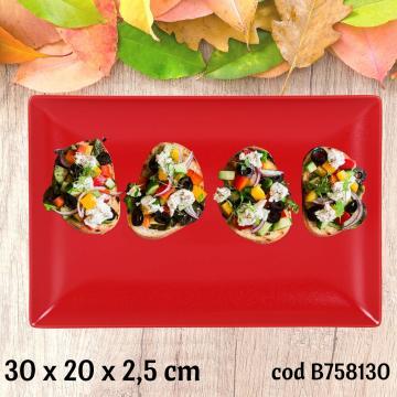 Tava ceramica, platou servire 30x20x2,5 cm - Ming II de la Plasma Trade Srl (happymax.ro)