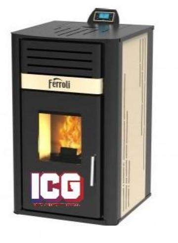Termosemineu pe peleti Ferroli Mirano Pellet N 24 kW de la ICG Center