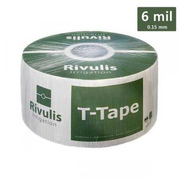 Banda picurare Rivulis T-Tape 16, 6 mil, 1 L/h, 10 cm de la Arbloom Srl