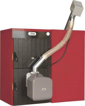 Cazan mixt lemn/pelet Ferroli Sunpellet 7, 48kW de la Axa Industries Srl