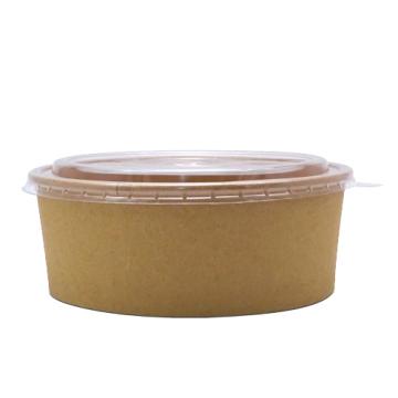Bol carton salata kraft natur 750cc, 50 buc/set de la Cristian Food Industry Srl.