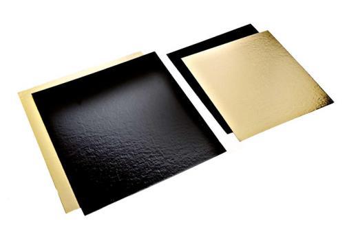 Planseta dreapta auriu/negru 30x30cm de la Cristian Food Industry Srl.