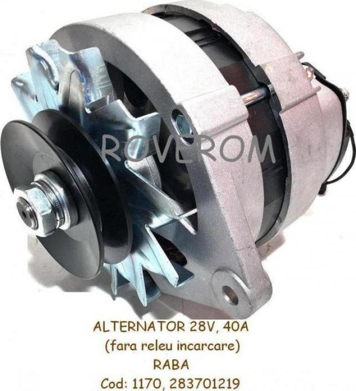 Alternator 28V, 40A, Raba, fara releu incarcare