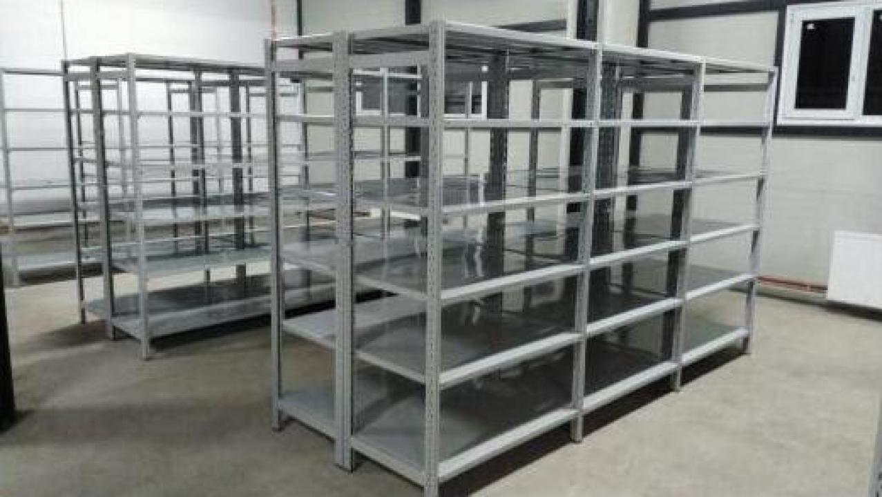 Rafturi metalice cu polite 500x1200x2500H - 5 niveluri