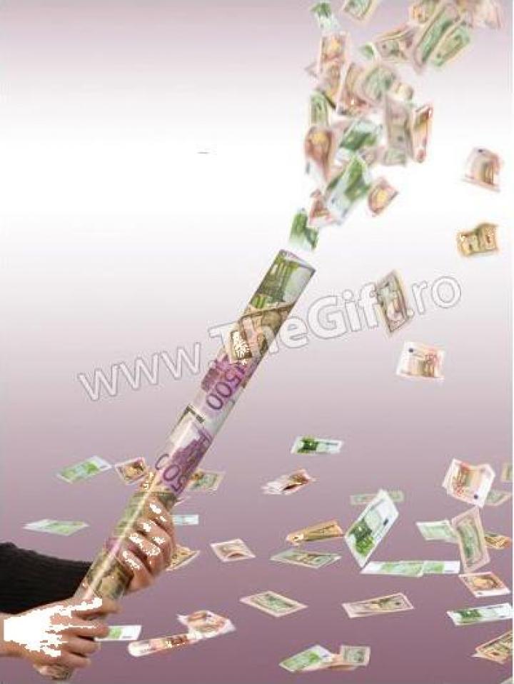 Tun confetti, dolari sau euro
