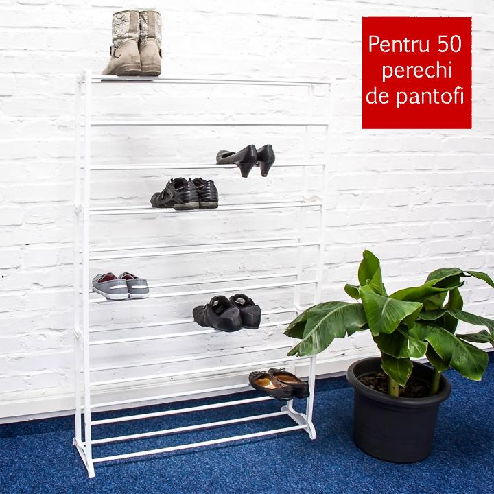 Suport pentru pantofi alb - 50 de perechi