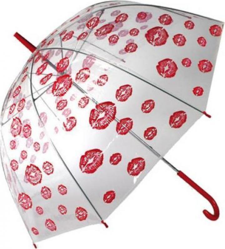 Umbrela transparenta in forma de dom Kisses